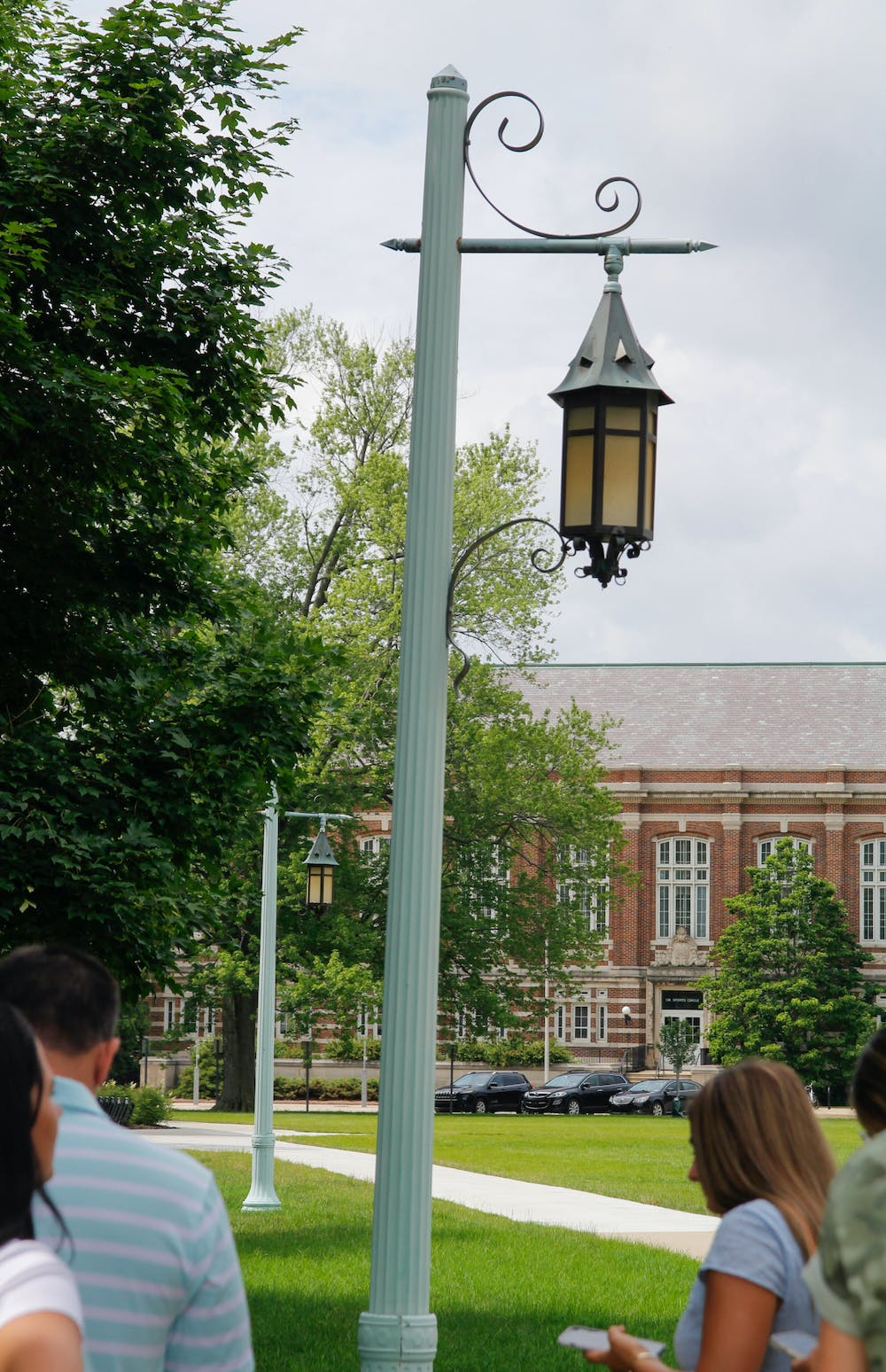 <p>MSU's classic green lamps illuminate campus and add to the historic look of North Neighborhood and central campus.&nbsp;</p>