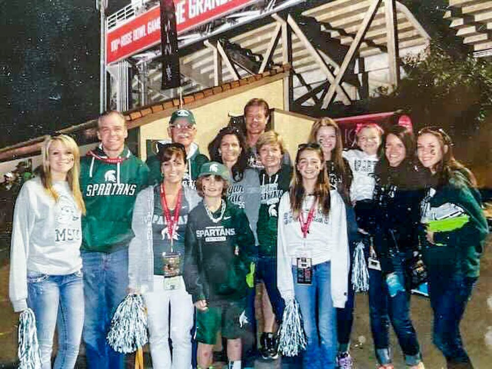 Don Fletcher and his family at the 2014 Rose Bowl. Photo Courtesy of Don Fletcher.