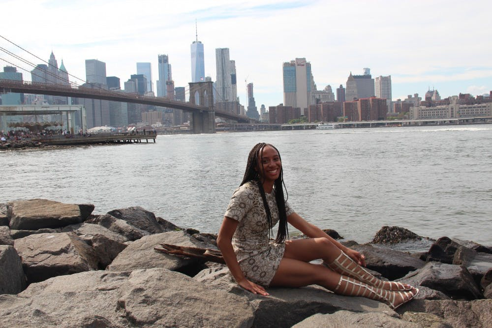 <p>Maya Roberts poses for a photo in New York City. She worked an unpaid internship with fashion designer Tracy Reese. Photo by Shae Christian.</p>