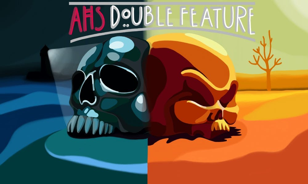 <p>&quot;American Horror Story: Double Feature.&quot; Design by Madison Echlin. </p>