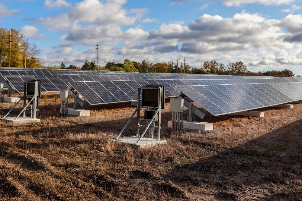 The East Lansing Solar Park on Oct. 22, 2019.