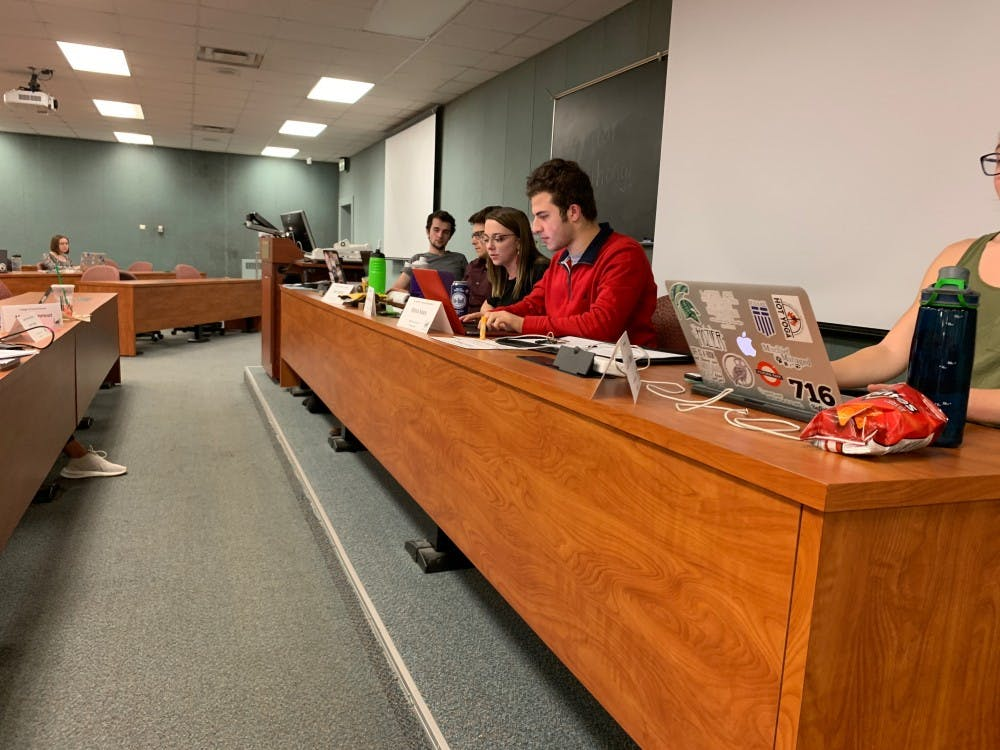 <p>ASMSU holds their last General Assembly meeting of the semester on Dec. 6, 2018. The meeting was co-chaired by Vice President for Finance and Operations Dan Iancio and Vice President for Student Allocations Makenzie Bosworth.&nbsp;</p>