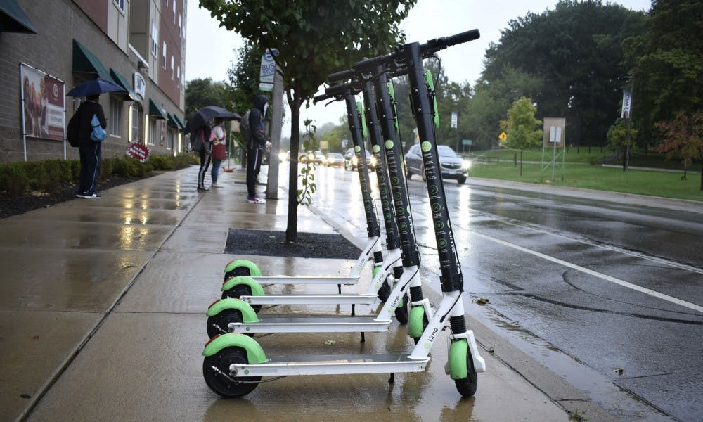 <p>Lime scooters are back on campus, with over 300 green-accented e-vehicles in the Lansing and East Lansing areas. </p>