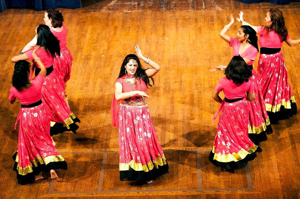 """<p>Students put on a rendition of the Indian epic Ramayana on Sunday, Nov. 18, 2012, at Wharton Center. The performance was part of Sargam 2012, a cultural event put on by the <span class=""""caps"""">MSU</span> Indian Students Organization. James Ristau/The State News</p>"""