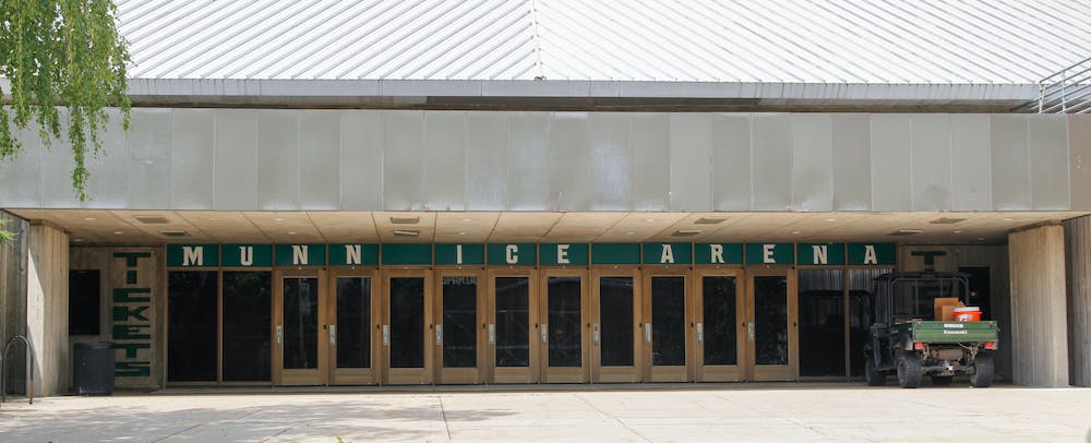 """<p>Munn Ice Arena is home to the men and women's hockey teams. Join the student section or the """"Munnsters"""" for a season pass to all games and a Munnsters hockey jersey! The arena also hosts free skates through out the school year.&nbsp;</p>"""