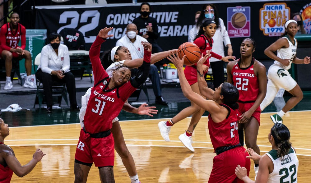 Michigan State versus Rutgers was a violent one, with Crooms losing a tooth in the first half and Joiner limping off to the bench in the second half. The Scarlet Knights made a comeback in the second half to triumph over the Spartans, 63-53, on Feb. 24, 2021.