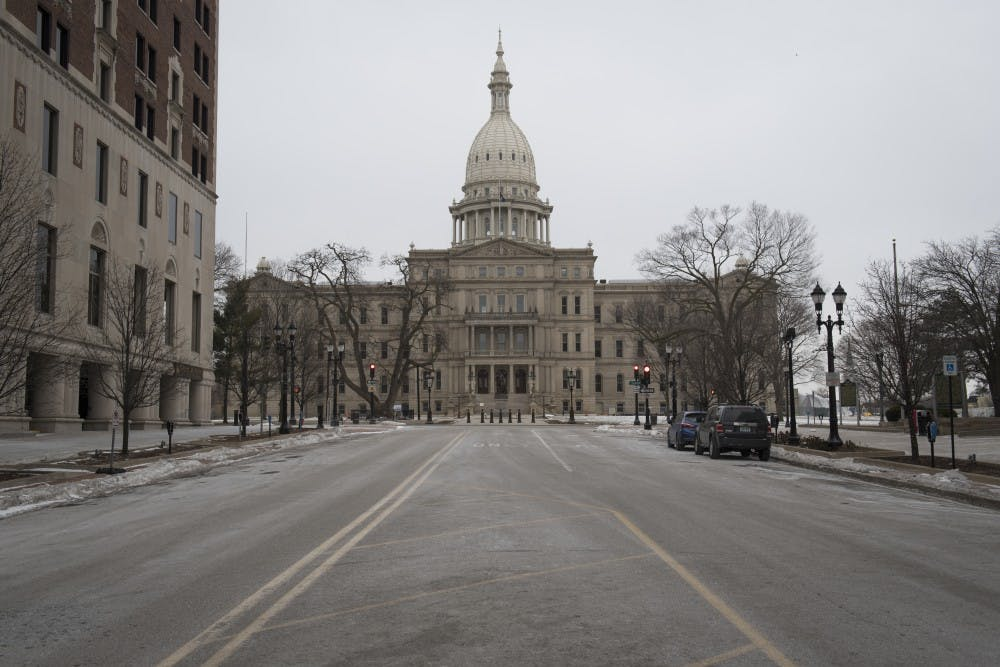 <p>The Capitol is pictured in Lansing on Feb. 9, 2019.</p>