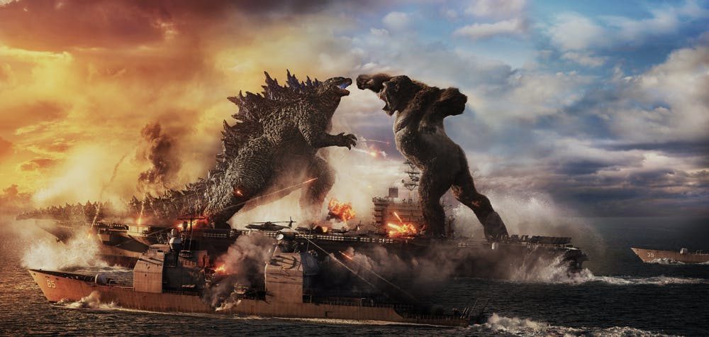 """<p>GODZILLA battles KONG in Warner Bros. Pictures™ and Legendary Pictures™ action adventure """"GODZILLA VS. KONG,"""" a Warner Bros. Pictures and Legendary Pictures release.</p>"""
