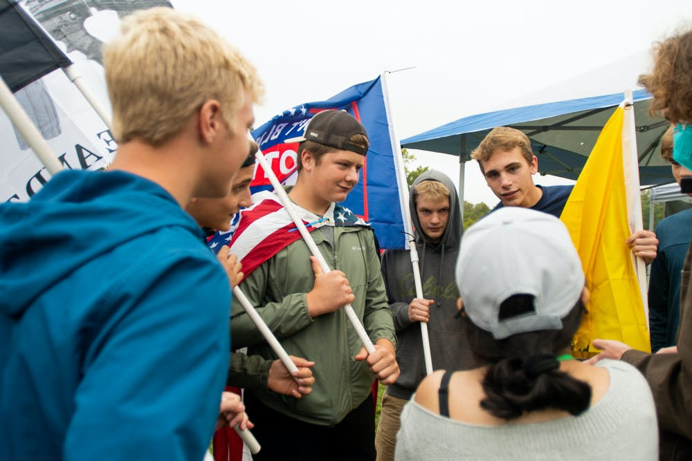 <p>Howell students join in on the &quot;Stop the Spending&quot; protest against President Joe Biden&#x27;s proposed infrastructure initiatives. </p>