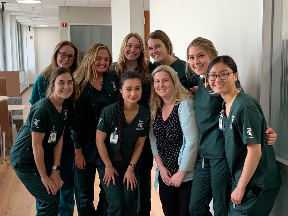 A group of MSU nursing students. Photo courtesy Josie Brehm.