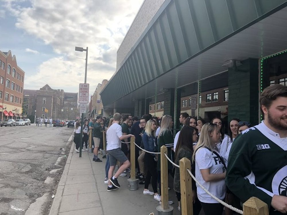 Outside The Riv on Saturday, approximately 2 and a half hours before tip-off