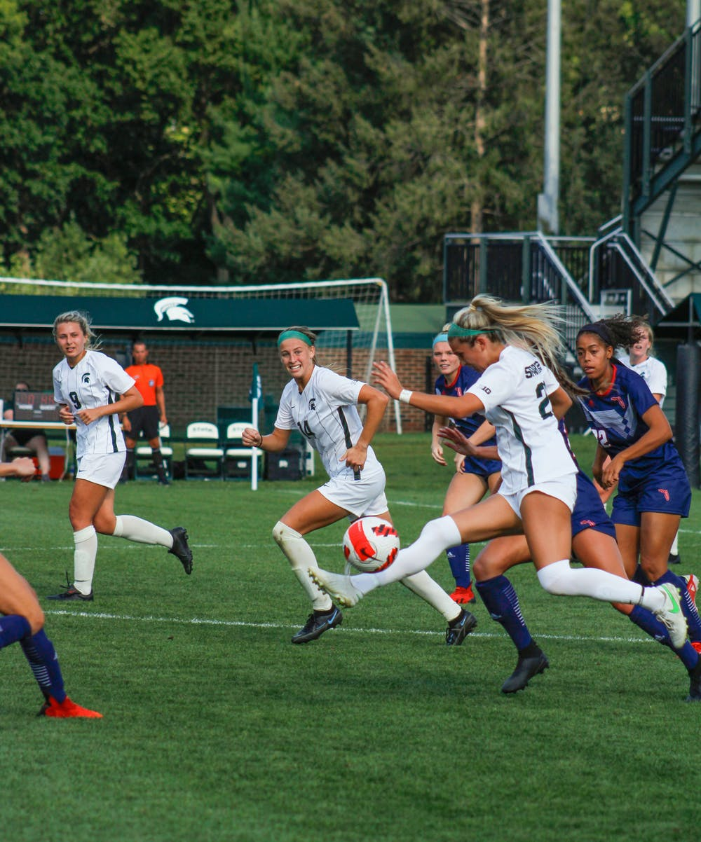 <p>Both teams ran out the clock of the second overtime trying to break the tie from the first half of the game. After 110 minutes, the MSU women&#x27;s soccer team ended their match against Florida Atlantic University 1-1 on August 30, 2021.</p>