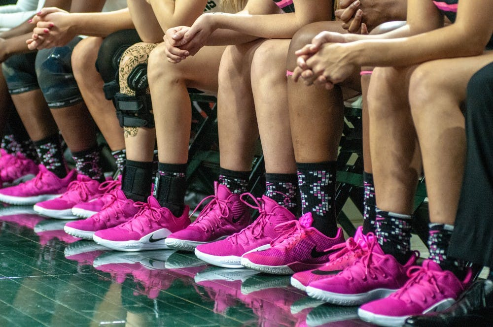 Spartans reflect on breast cancer awareness at annual Pink Game ... 36b04d378ec1