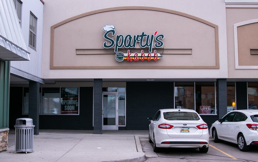 <p>Sparty&#x27;s Kabob photographed on March 11, 2020.</p>
