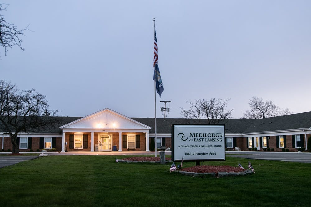 <p>MediLodge of East Lansing is pictured April 7, 2020.</p>