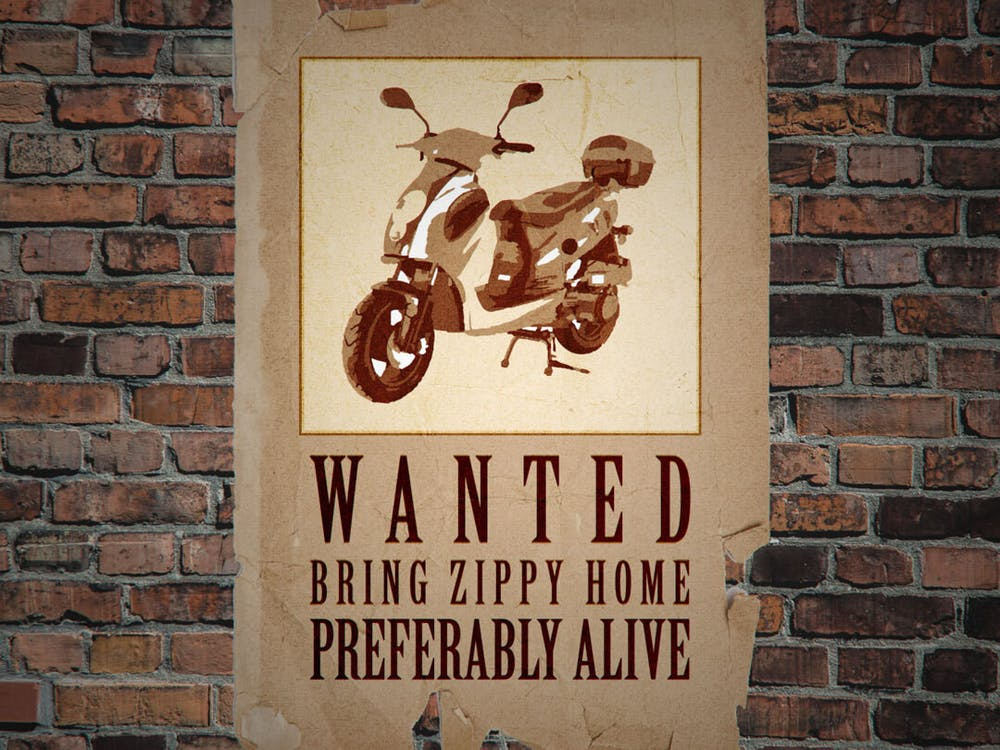 <p>Illustration of Zippy the moped by Daena Faustino.</p>
