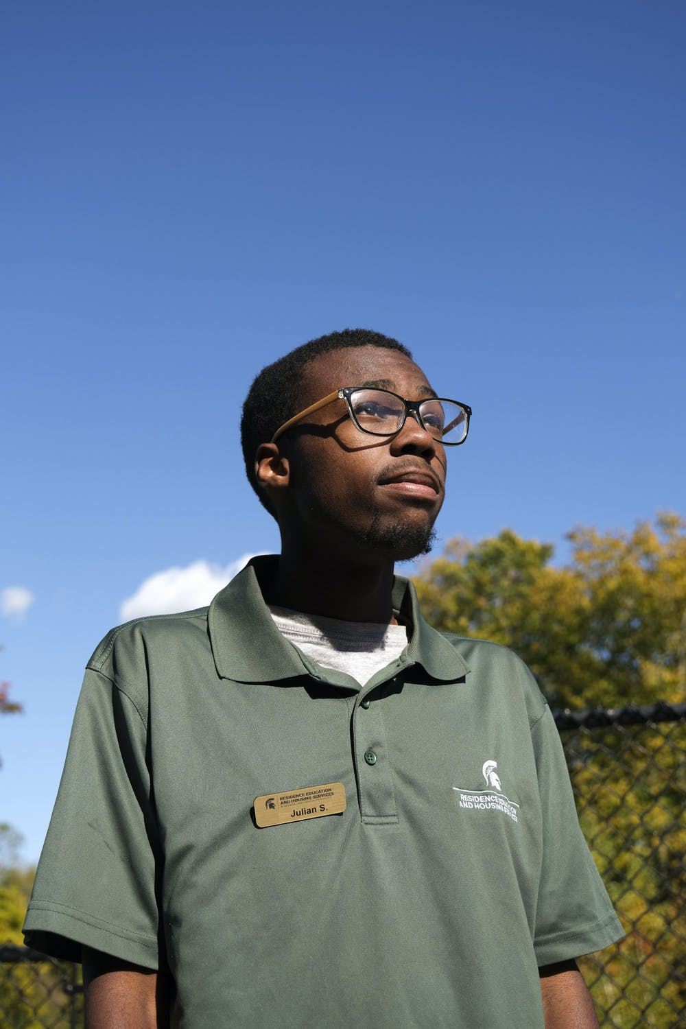 <p>Julian Stainback, a media and information and journalism major from Detroit, Michigan, pictured on October 8, 2020.</p>