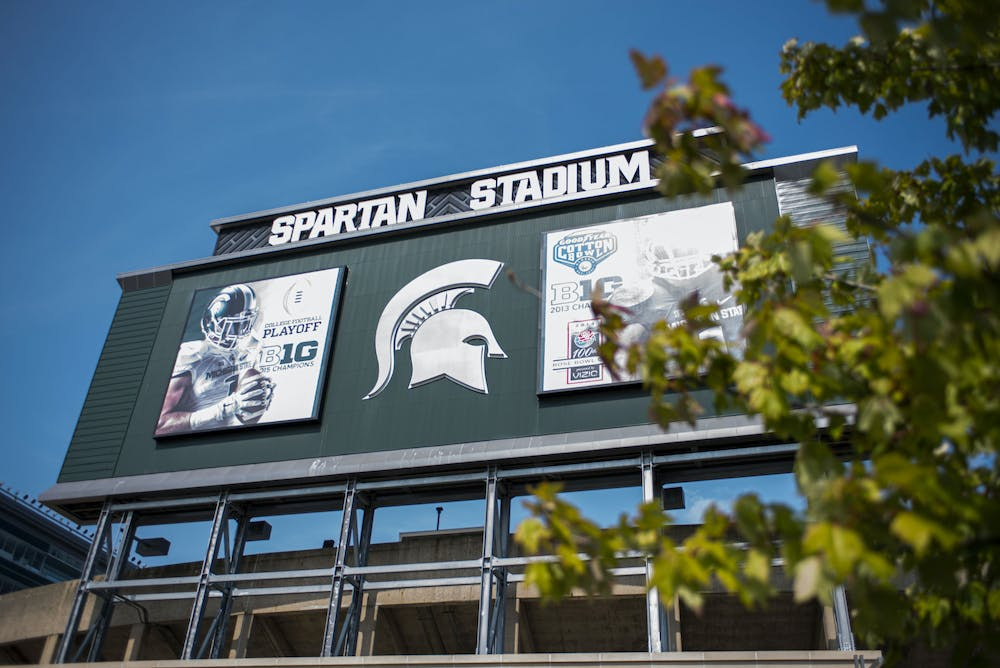 <p>Spartan Stadium has converted into a COVID-19 testing facility to allow students living on or near campus to get tested. The entrance to the testing center is located at Gate B. Shot on Sept. 23, 2020.</p>