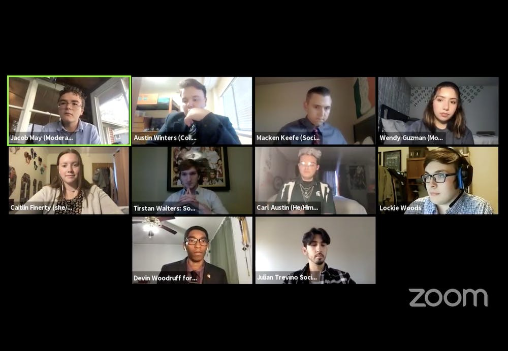 <p>A screenshot from Tuesday&#x27;s ASMSU roundtable.</p>