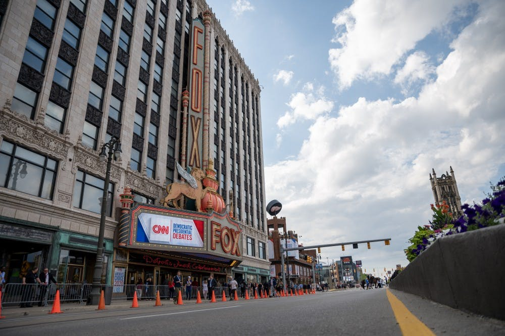 <p>The Fox Theater in Detroit hosted the first night of CNN&#x27;s Democratic Debate on July 30, 2019. </p>