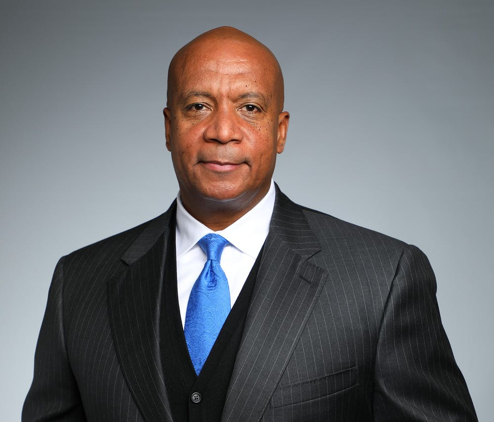 <p>Big Ten Commissioner Kevin Warren pictured in a headshot from the Big Ten Conference. Courtesy of the Big Ten Conference.</p>