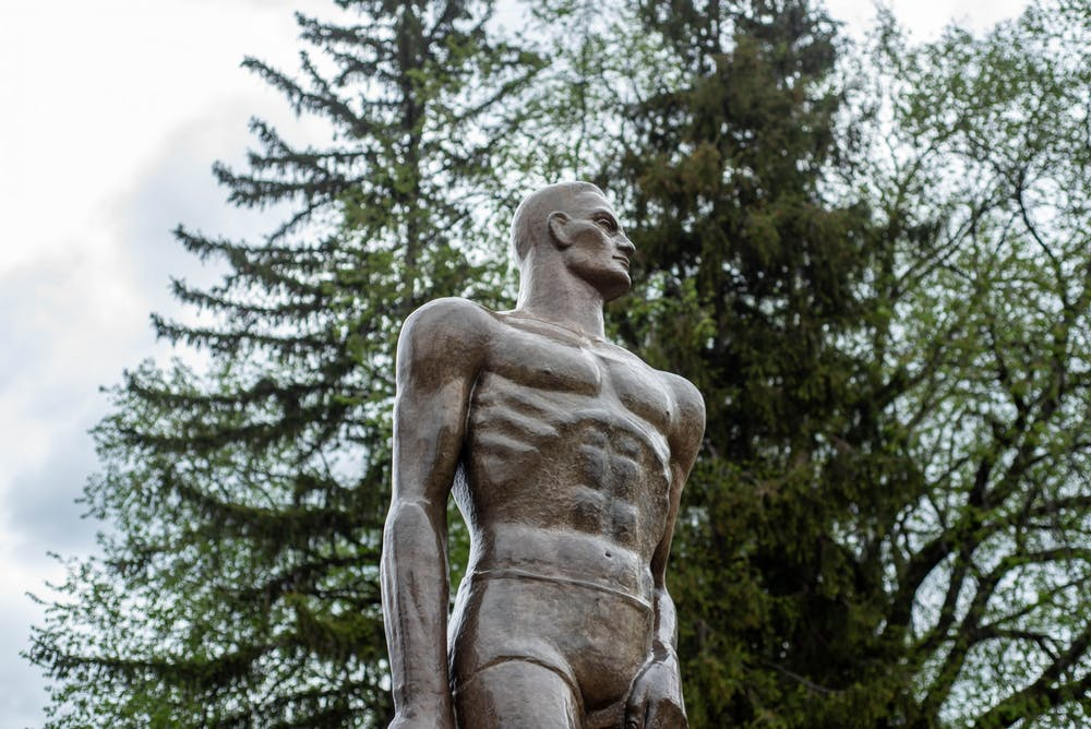 The Sparty Statue on March 19, 2020