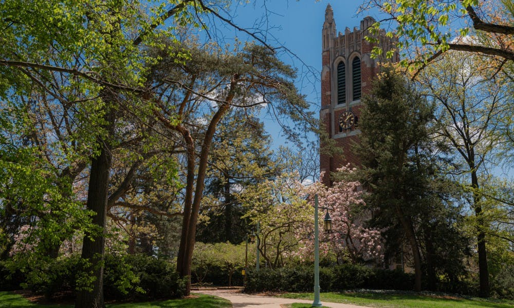 <p>Beaumont Tower photographed on May 15, 2019</p>