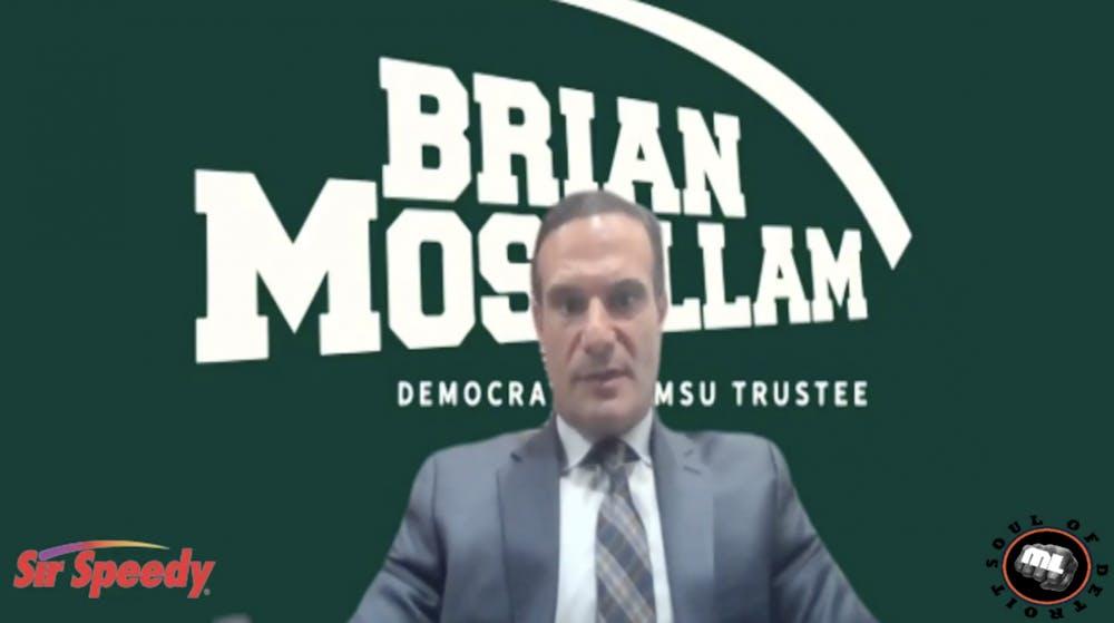 <p>A screenshot of MSU Trustee Brian Mosallam on ML Elrick&#x27;s Facebook Live.  </p>