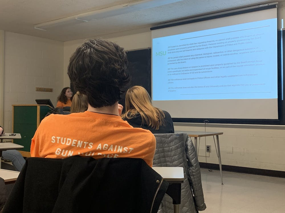 <p>Students Against Gun Violence, a student group on Michigan State&#x27;s campus, meet on Tuesday, November 19. </p>
