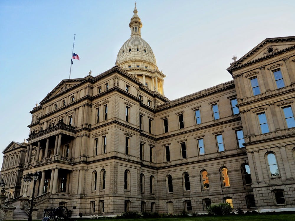 <p>The Lansing Capitol building on Sept. 19, 2019. </p>