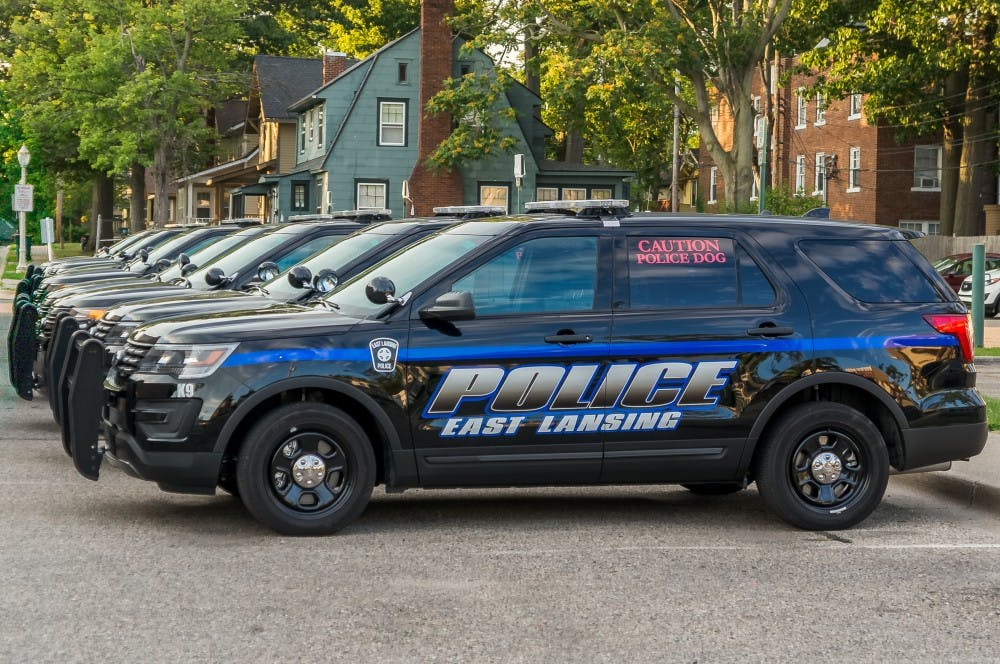 <p>An East Lansing police car is pictured on July 6th, 2017.</p>