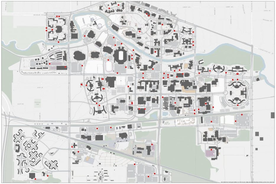 Designated moped parking to begin August 2018 - The State News on mtu map, mississippi state campus map, michigan state parking lot map, wmu map, mis map, cu map, rutgers map, isu map, nmu map, yale map, letu map, gvsu campus map, csu map, psu map, uiuc map, univ of michigan campus map, duke map, jsu map, app state map, eastern michigan campus map,