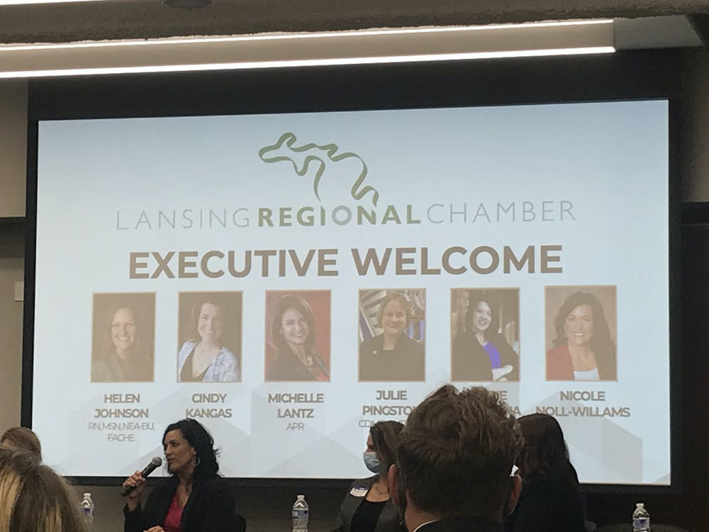 <p>The Lansing Regional Chamber of Commerce, or LRCC, honored six women who came into executive positions during the pandemic on Sept. 8, 2021.</p>