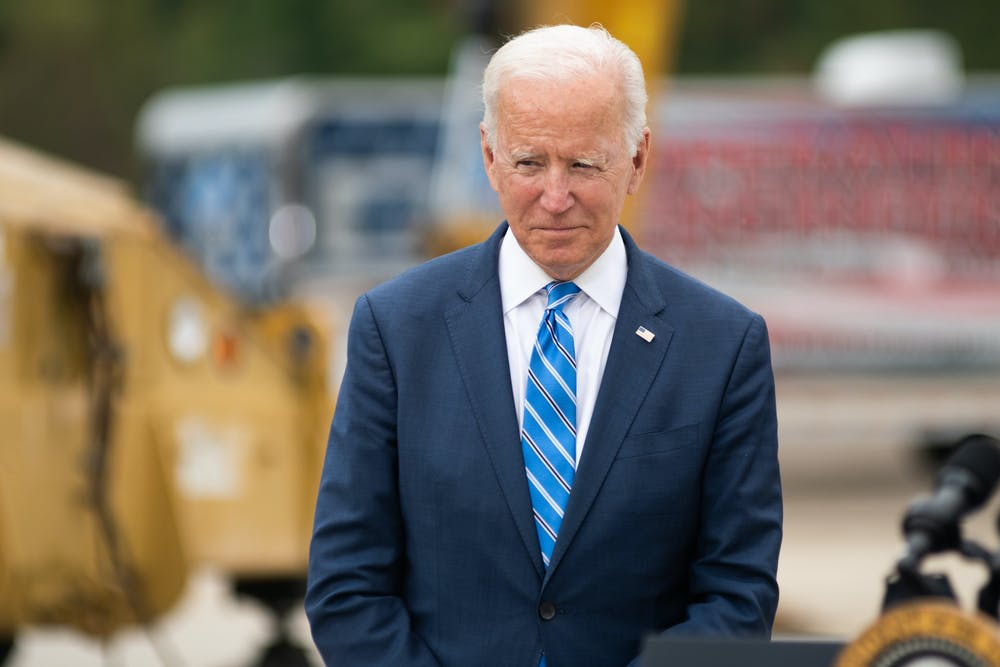 <p>&quot;We&#x27;re at an inflection point,&quot; Biden said, regarding the state of the United States in his promotion of the &quot;Build Back Better&quot; infrastructure plan. &quot;All those investments that fuel the strong economy, we've taken our foot off the gas. So it's essential that we regain our momentum that we've lost,&quot; he said. Oct. 5, 2021.</p>