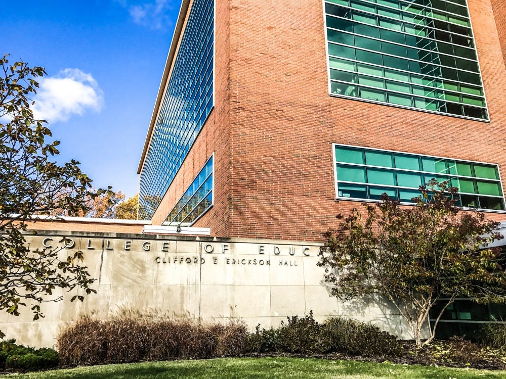 <p>Erickson Hall is home to the MSU College of Education, pictured on Nov. 6, 2017. </p>