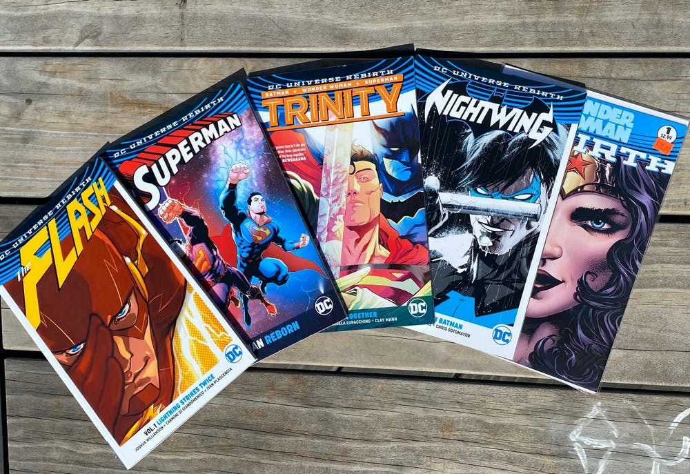 Wajeeha Kamal's personal collection of DC Comics.