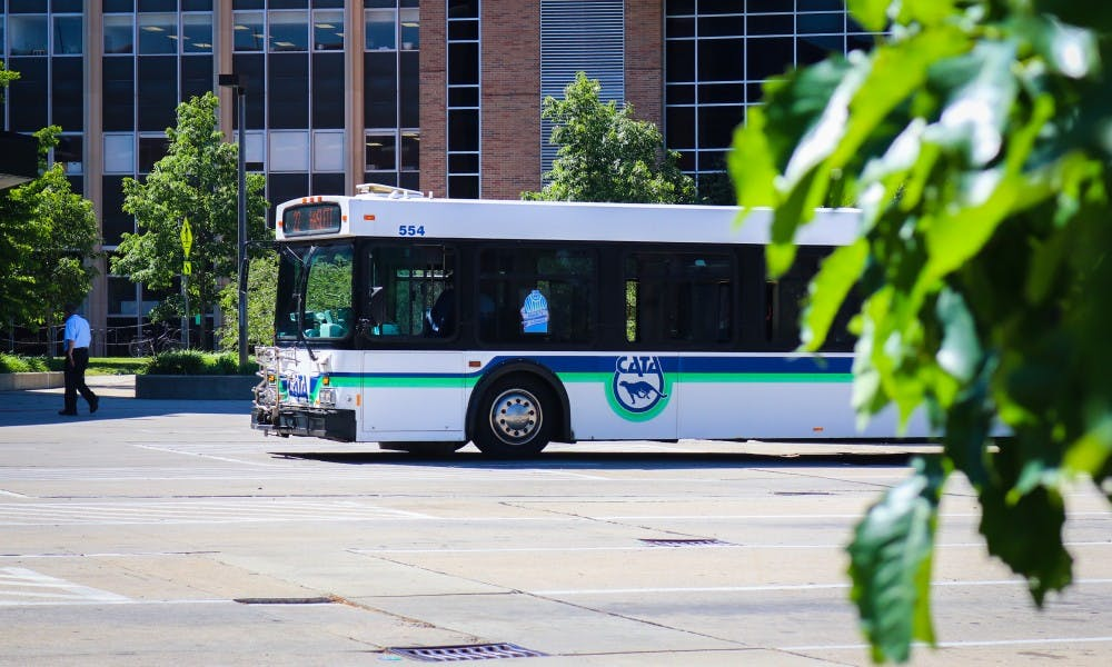 <p>A CATA bus is pictured on June 8 at the CATA Transportation Center.</p>