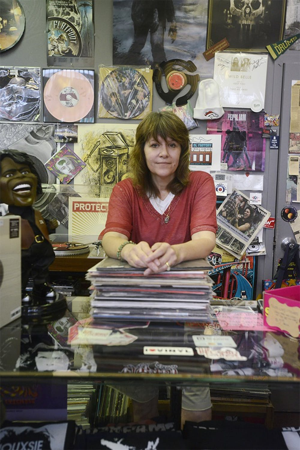<p>Owner of the Record Lounge in East Lansing, Heather Frarey, says her favorite part of working in this city is the people she gets to meet and talk about music with on a day-to-day basis. Wyatt Giangrande/State News</p>