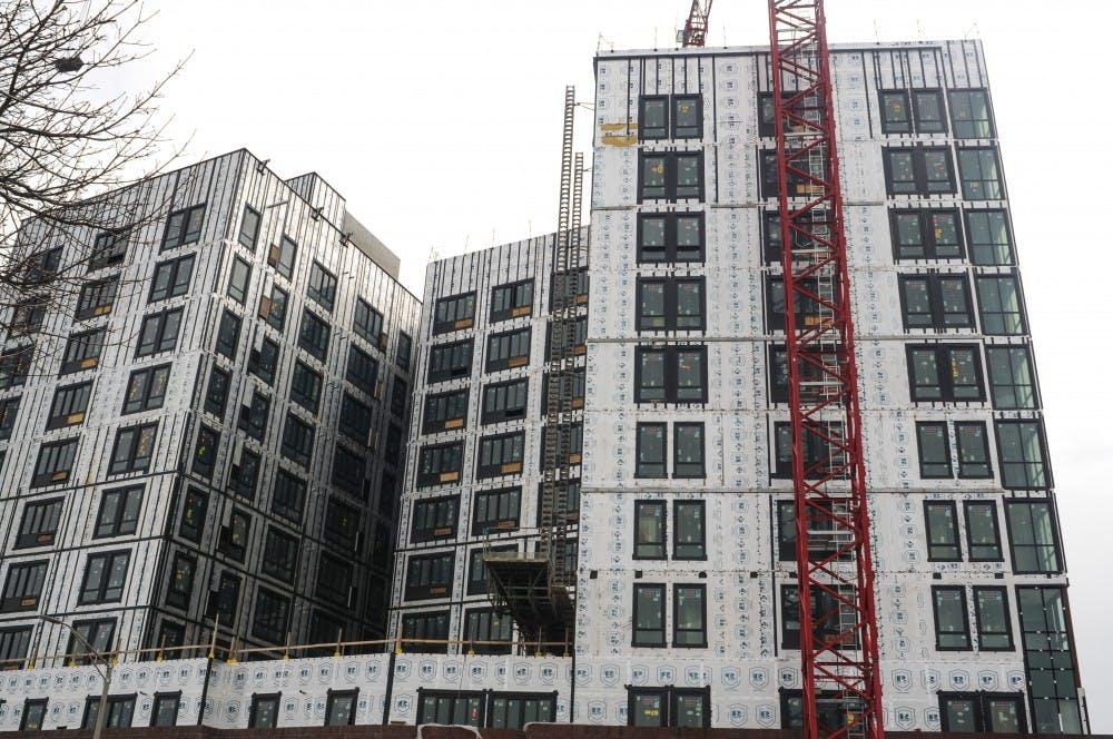 <p>The Hub construction April 4, 2019.</p>