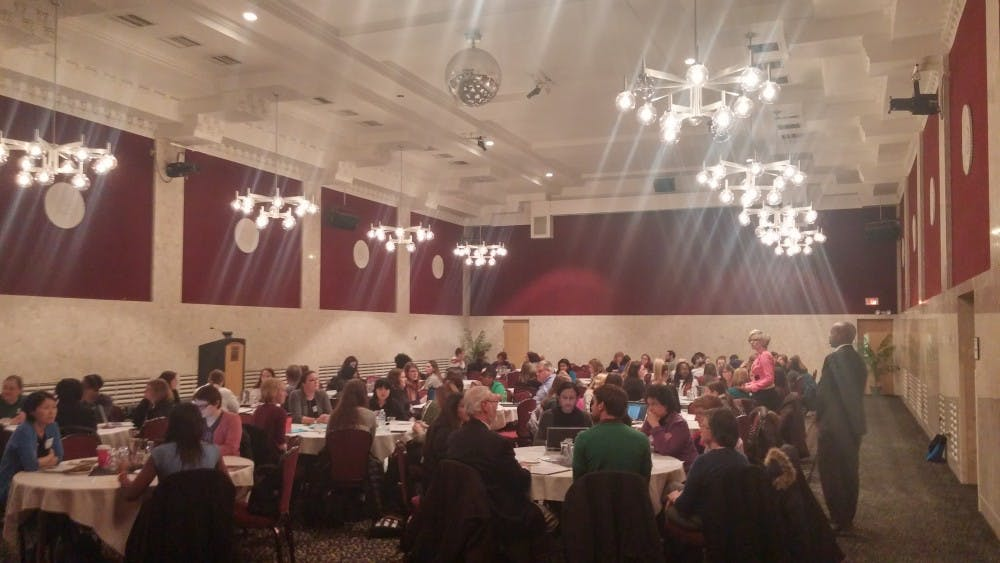 <p>Monday night's discussion about sexual assault and relationship violence held in the MSU Union.&nbsp;</p>