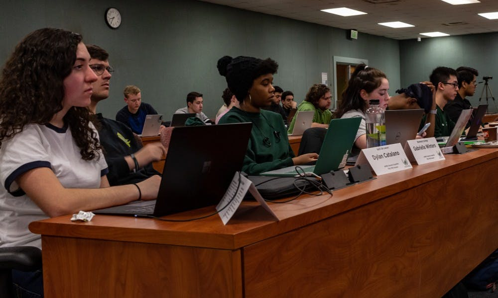 ASMSU representatives attending a general assembly meeting on Feb. 28, 2019.