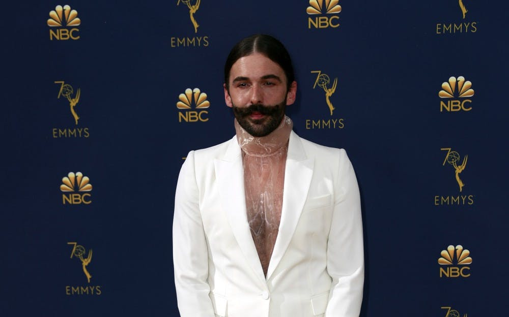 Jonathan Van Ness arrives at the 70th Primetime Emmy Awards at the Microsoft Theater in Los Angeles on Monday, Sept. 17, 2018. Photo courtesy Tribune News Service.