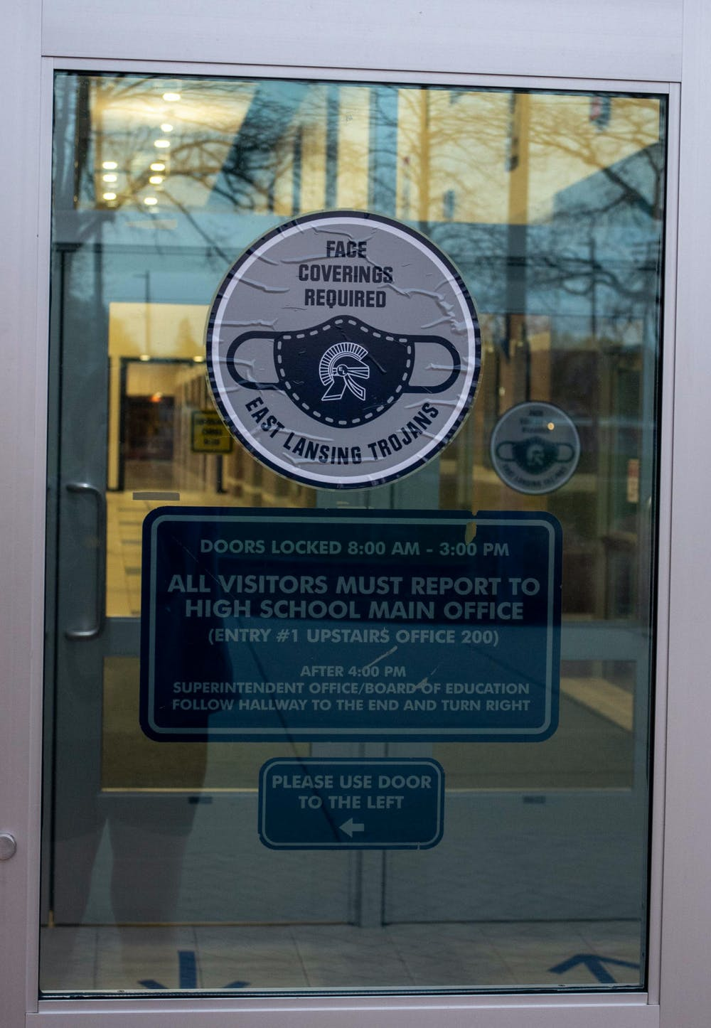East Lansing High School will transition to remote learning starting April 12 due to the rising COVID-19 cases in the state of Michigan. Shot on April 9, 2021.