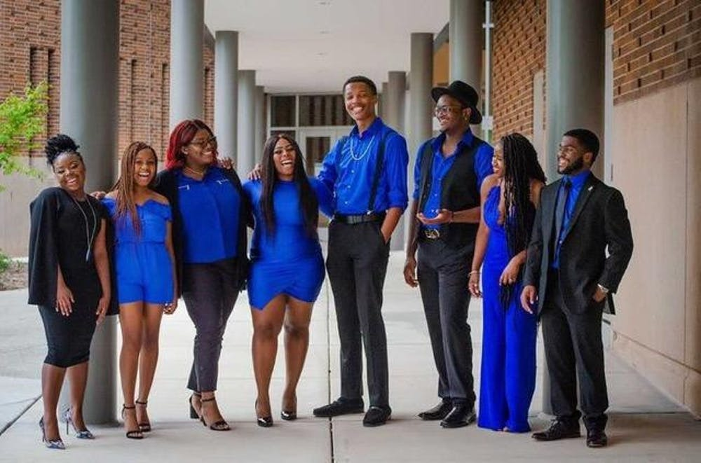 <p>Executive board members MSU chapter of Black Student Alliance pose for a group photo. Image courtesy of Tofi Adegbite.</p>