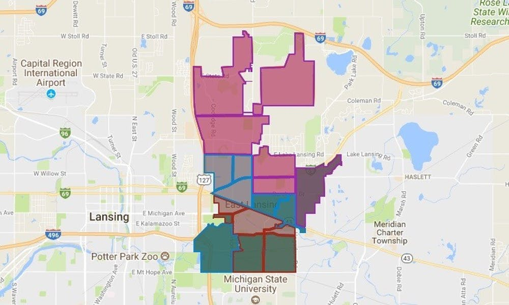 <p>A screenshot of the map breaking down how the precincts voted in the Nov. 7, 2017 election.</p>