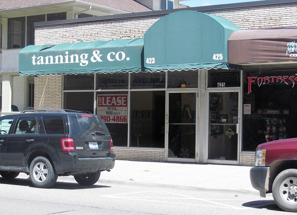 <p>The former location of The Tanning Company at 423 Albert Ave. in East Lansing, Mich. Ryan Squanda/The State News                               </p>