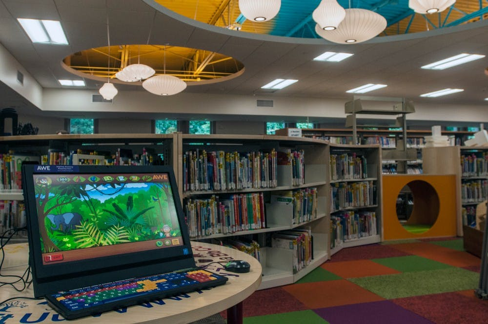 The children's section of the East Lansing Public Library, pictured here Sept. 27, 2016, was one of many renovations that took place over the past several months.