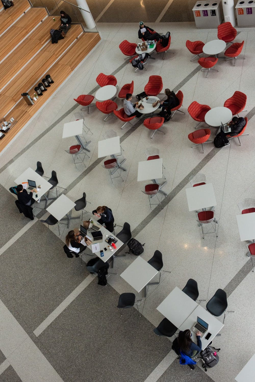 <p>Students continue to study in the Eppley Center after an email is released notifying students that classes after noon have been canceled on March 11, 2020.</p>