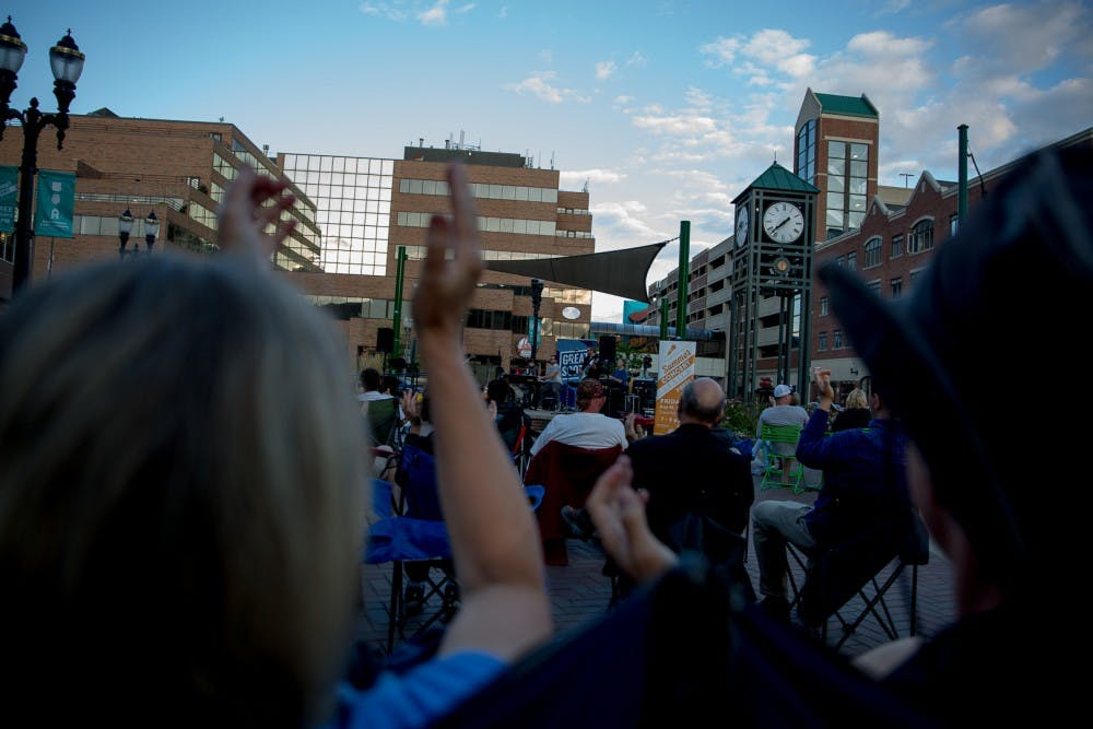 Dozens of local community members enjoyed live music during the 2019 Summer Concert Series on Friday, August 23, 2019, in downtown East Lansing. 