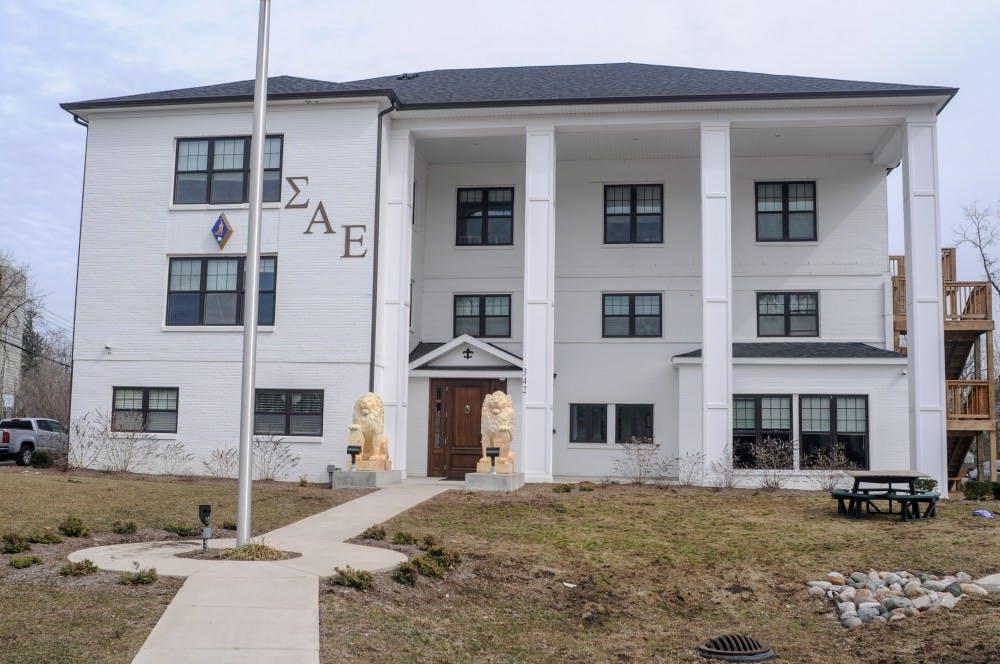 The Sigma Alpha Epsilon house on April 4, 2019.